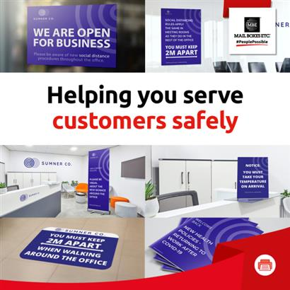 Helping you serve customers safely